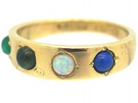 Victorian 18ct Acrostic Gold Ring that Spells Love