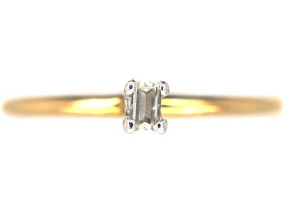 18ct Gold & Baguette Diamond Ring