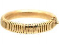 Retro Gas Pipe Flexible Tubogas 9ct Gold Bracelet