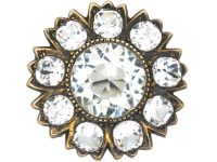 Victorian Flower Brooch set with Paste