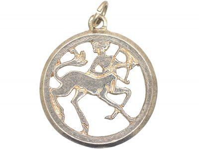 Silver Sagittarius Charm