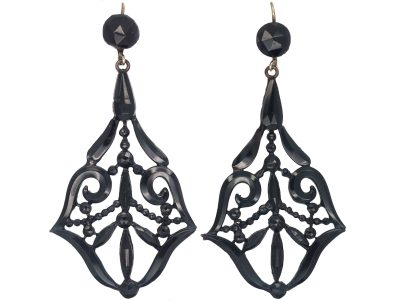 Victorian Vauxhall Glass Drop Earrings