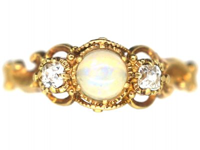 Regency 15ct Gold, Opal & Diamond Ring