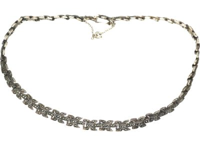Art Deco Silver & Marcasite Necklace