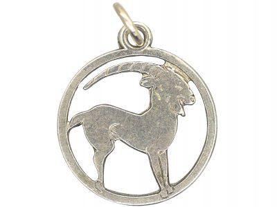 Silver Aries Charm