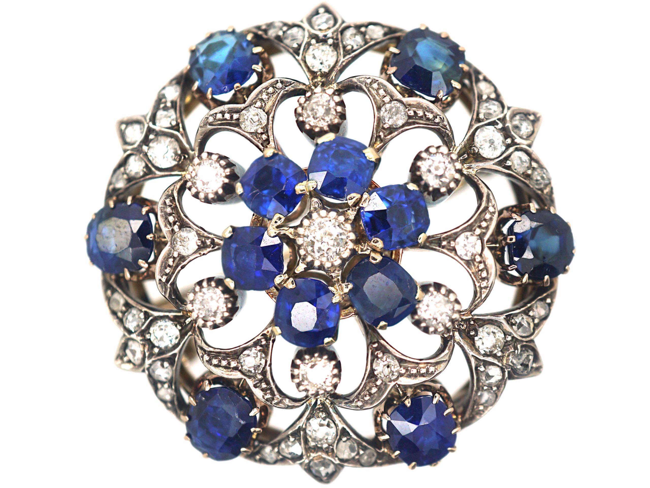 Victorian Sapphire & Diamond Brooch & Pendant