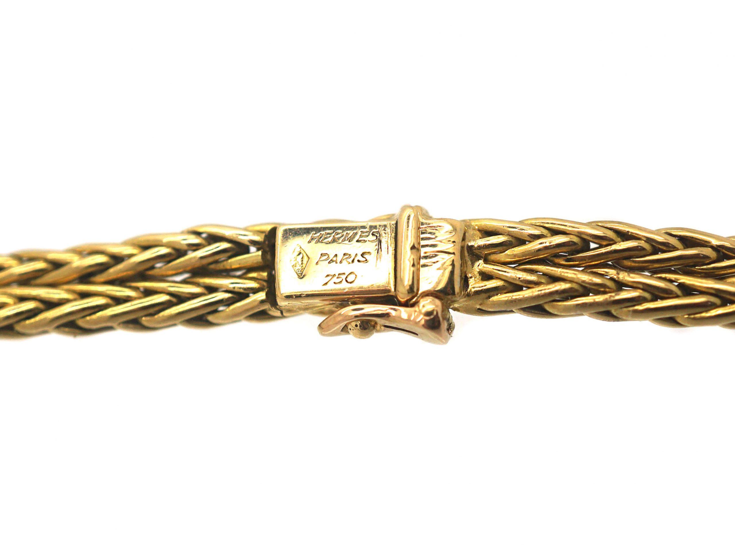French 18ct Gold & Diamond Necklace by Hermès, Paris