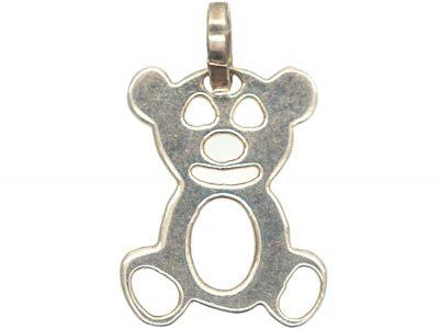 Silver Teddy Bear Charm