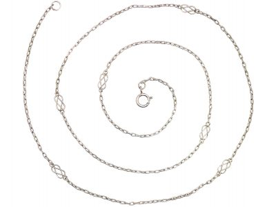 Edwardian Lover's Knot Platinum Chain