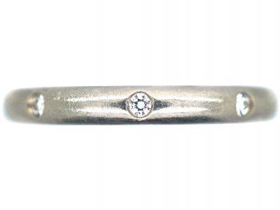 Platinum & Diamond Wedding Ring by Cartier