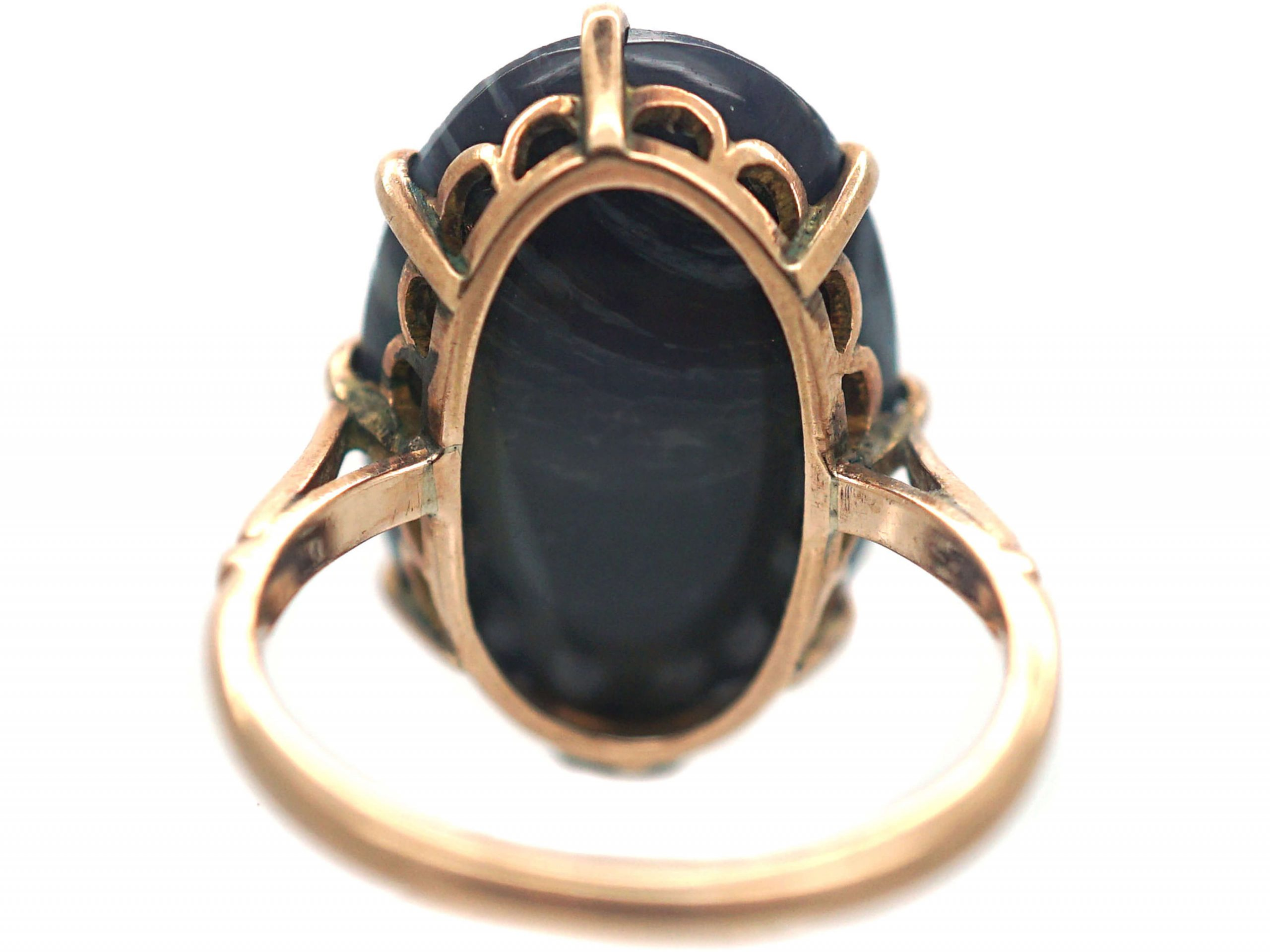 Art Deco 14ct Gold, Opal Doublet Ring