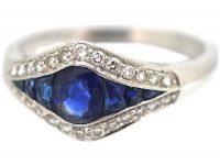 Platinum, Sapphire & Diamond Ring