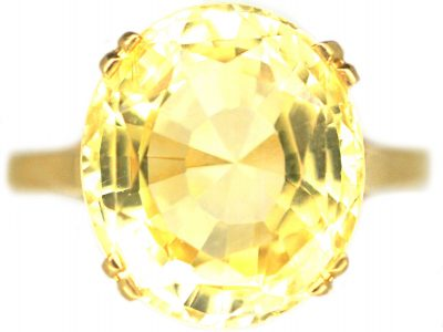 18ct Gold Natural Yellow Sapphire Ring that Weighs Nine Carats