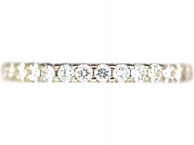 18ct White Gold & Diamond Narrow Eternity Ring