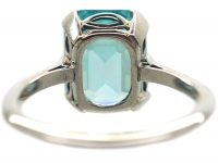 Art Deco 18ct White Gold & Platinum Ring set with  a Zircon