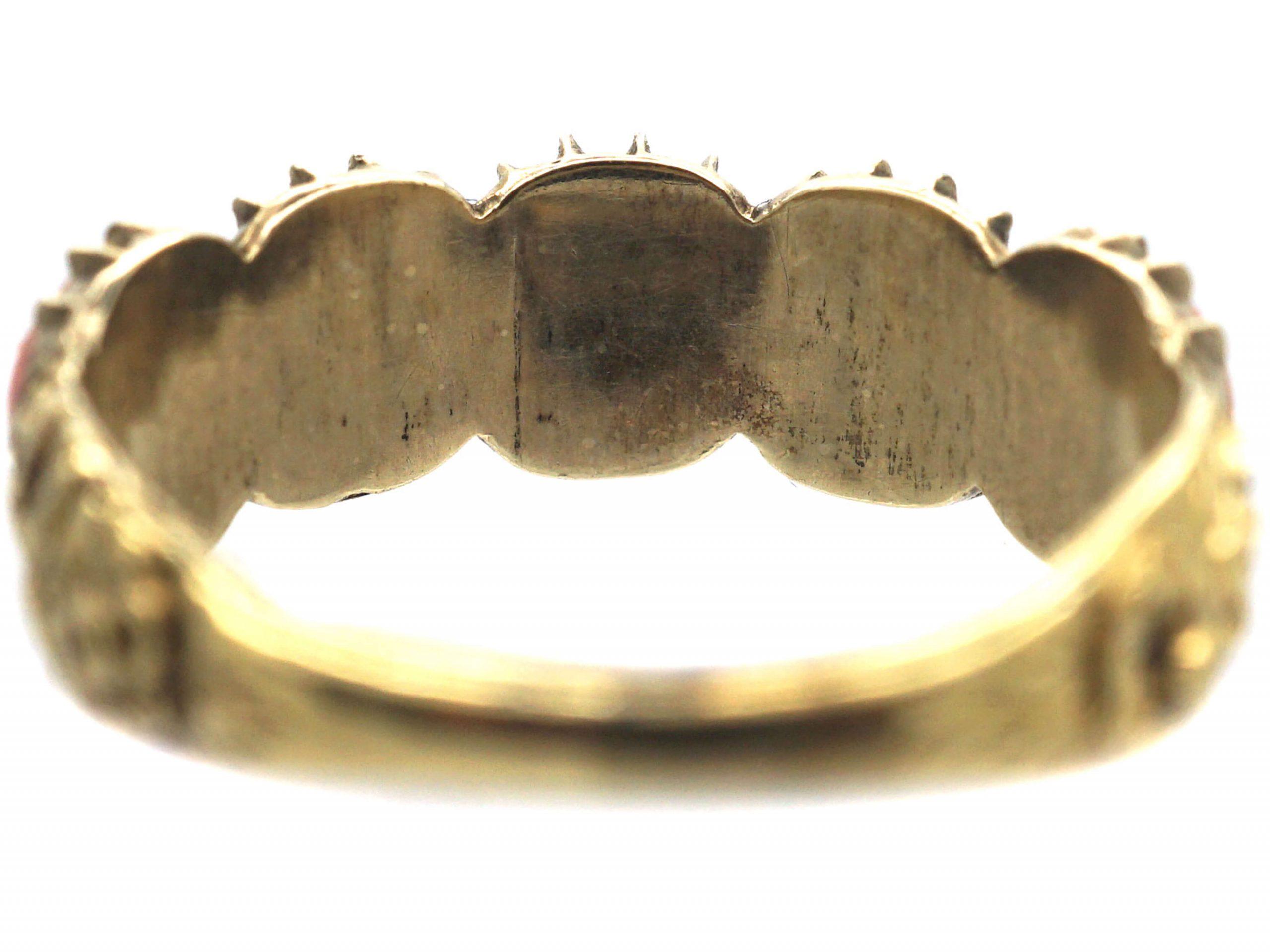 Georgian 15ct Gold & Coral Ring