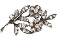 Regency Small Diamond Flower Spray Brooch set with Diamonds