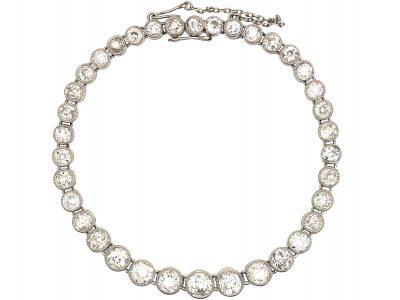 Edwardian Platinum & Diamond Rivière Bracelet