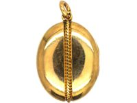 Victorian 15ct Gold Oval Shaped Locket