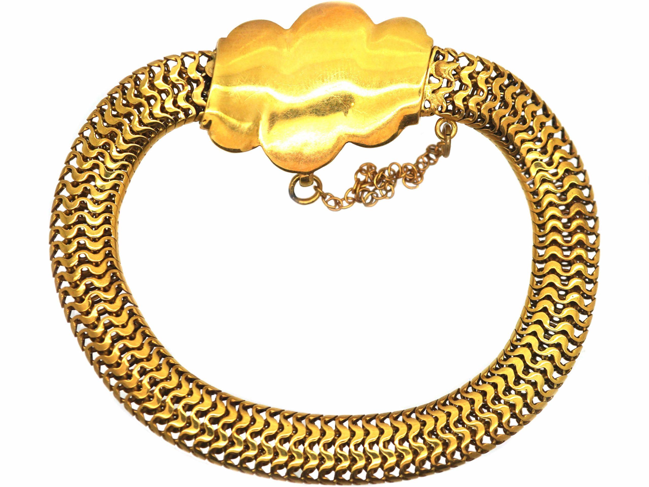 Victorian 15ct Gold with Triple Coil Motif Bracelet