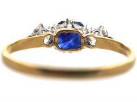 18ct Gold, Sapphire & Diamond Three Stone Ring