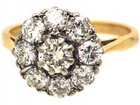 18ct Gold & Diamond Cluster Ring