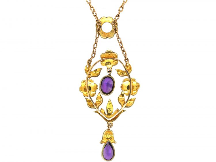 15ct Gold Suffragette Pendant Retailed by Murrle Bennett & Co