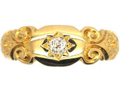 Edwardian 18ct Gold & Diamond Gypsy Ring