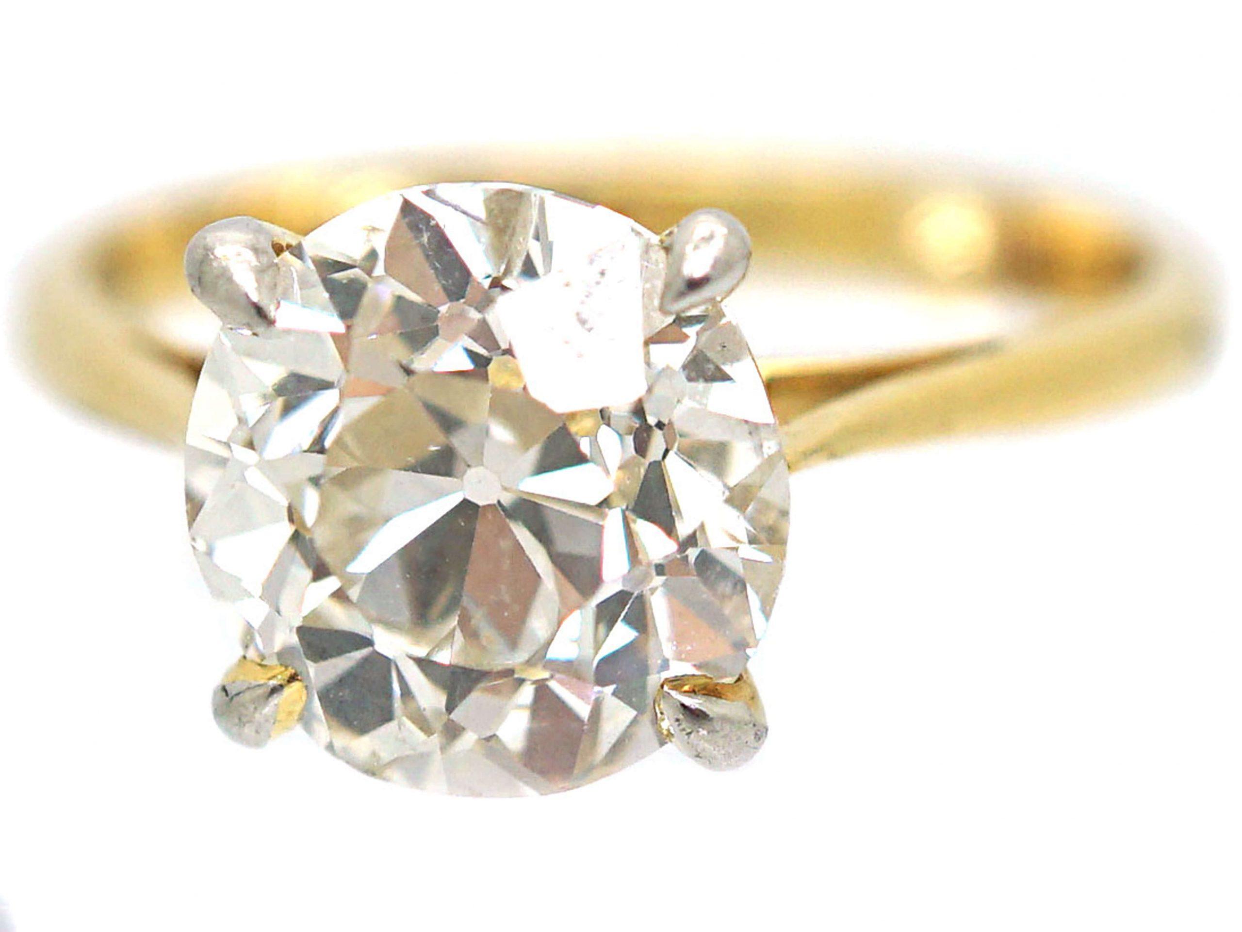 18ct Gold, Three Carat Diamond Solitaire Ring