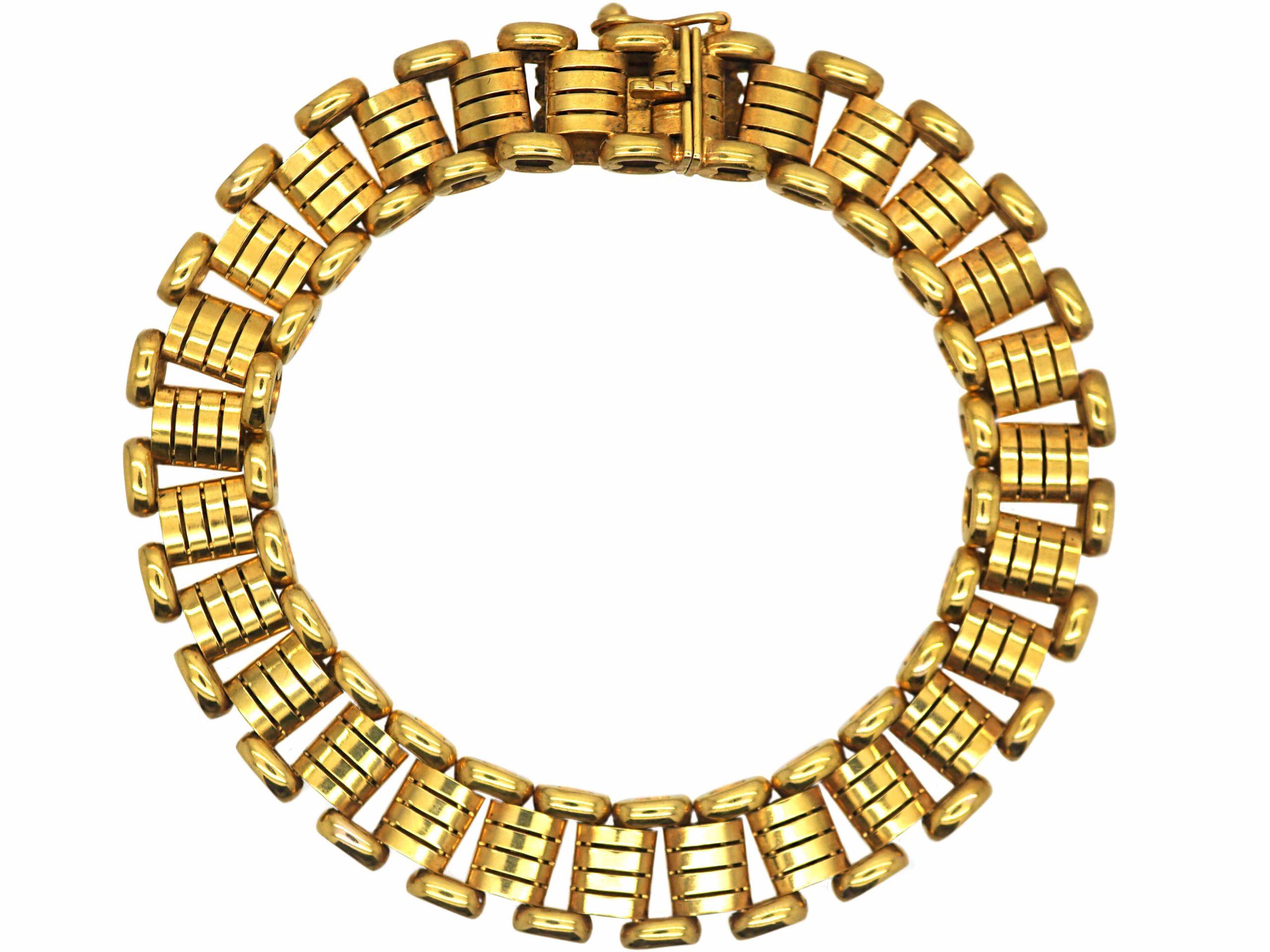 Edwardian 15ct Gold Articulated Bracelet