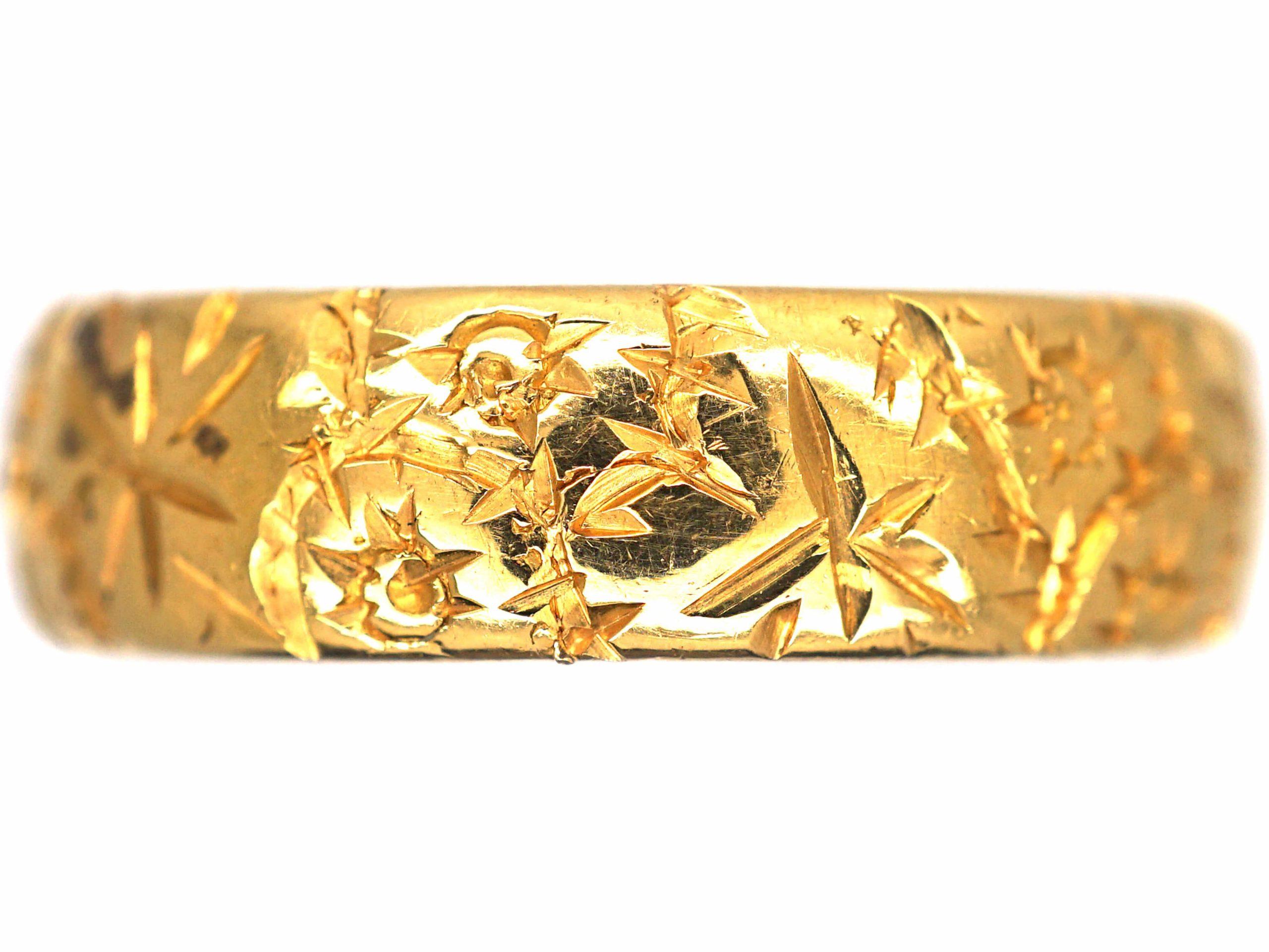 22ct Gold Ivy & Roses Wedding Ring