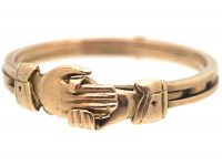 Victorian 15ct Gold Fede Ring