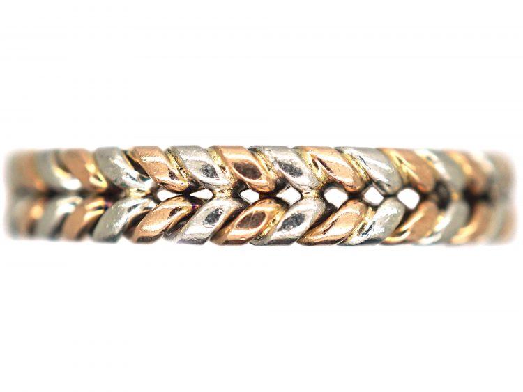 Edwardian 15ct Gold & Platinum Illusion Wedding Ring