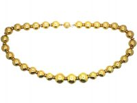 18ct Gold Bead Necklace