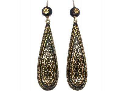 Victorian Pique Drop Earrings