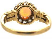 Edwardian 18ct Gold, Opal  & Rose Diamond Cluster Ring