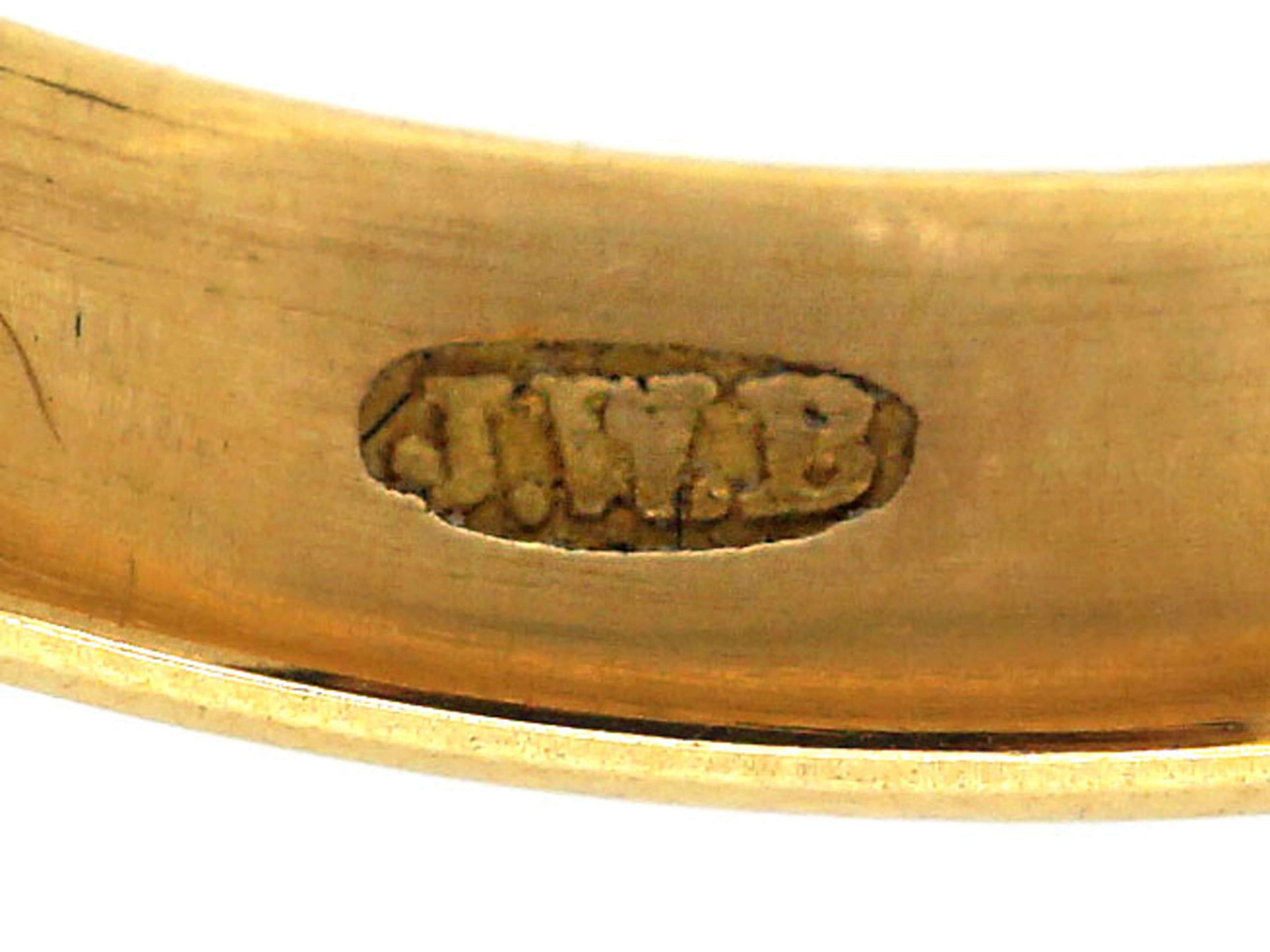 Edwardian 22ct Gold Wedding Band with Hearts & Star Motif
