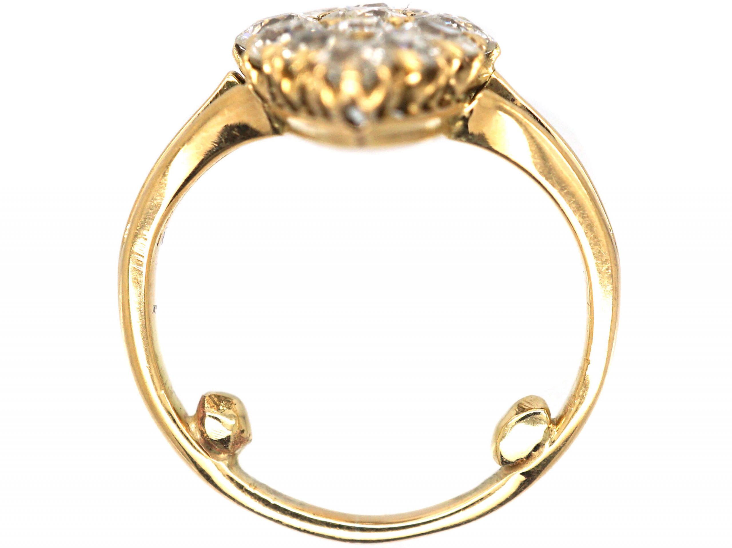 Edwardian 18ct Gold & Diamond Marquise Ring