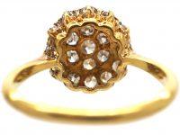 Edwardian 18ct Gold & Platinum, Pave Set  Diamond Cluster Ring