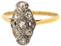 Art Deco 18ct Gold & Platinum, Diamond Ring