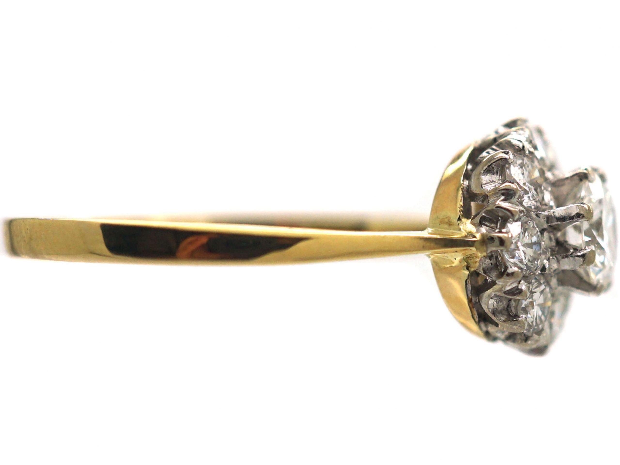 18ct Gold, Brilliant Cut Diamond Cluster Ring