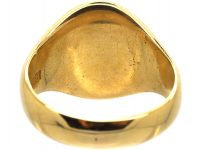 Victorian 18ct Gold & Bloodstone Signet Ring with Griffin Intaglio