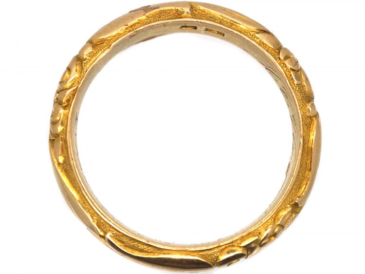 Early 20th Century 18ct Gold Wedding Ring with Repoussé Decoration