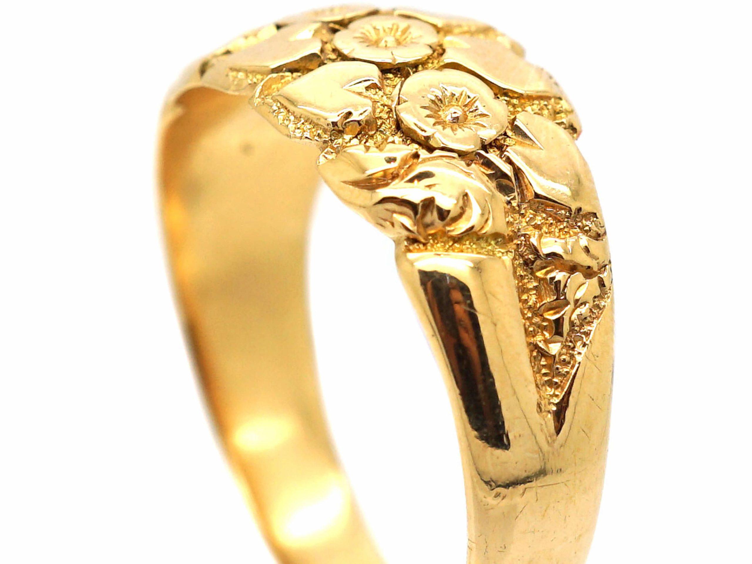 Edwardian 18ct Gold Keeper Ring