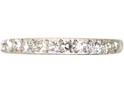Art Deco 18ct Gold & Platinum, Half Eternity Ring