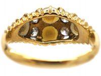 Victorian 18ct Gold, Natural Split Pearl & Diamond Ring