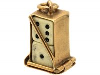 9ct Gold Two Dice Charm
