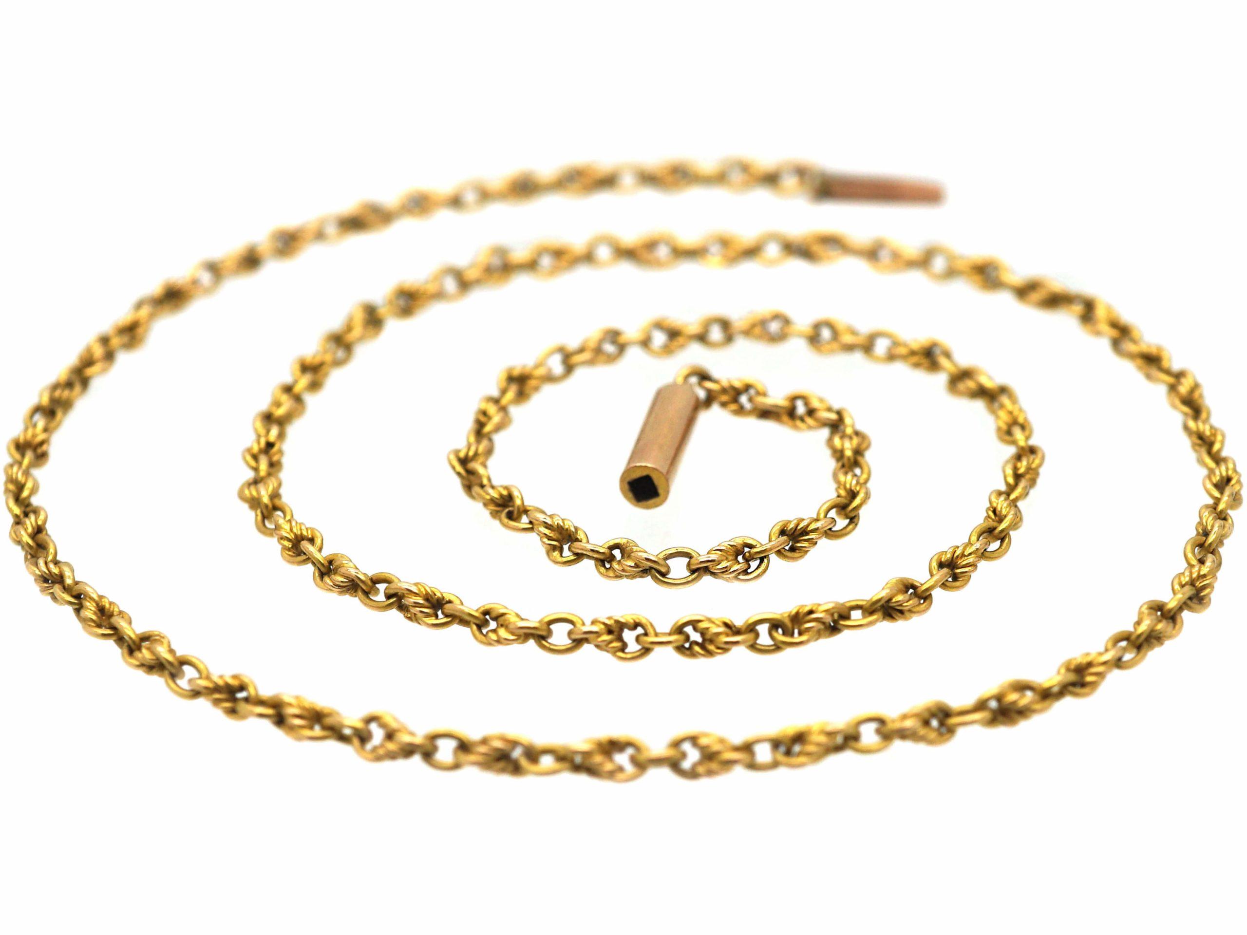 Edwardian 15ct Gold Ornate Chain