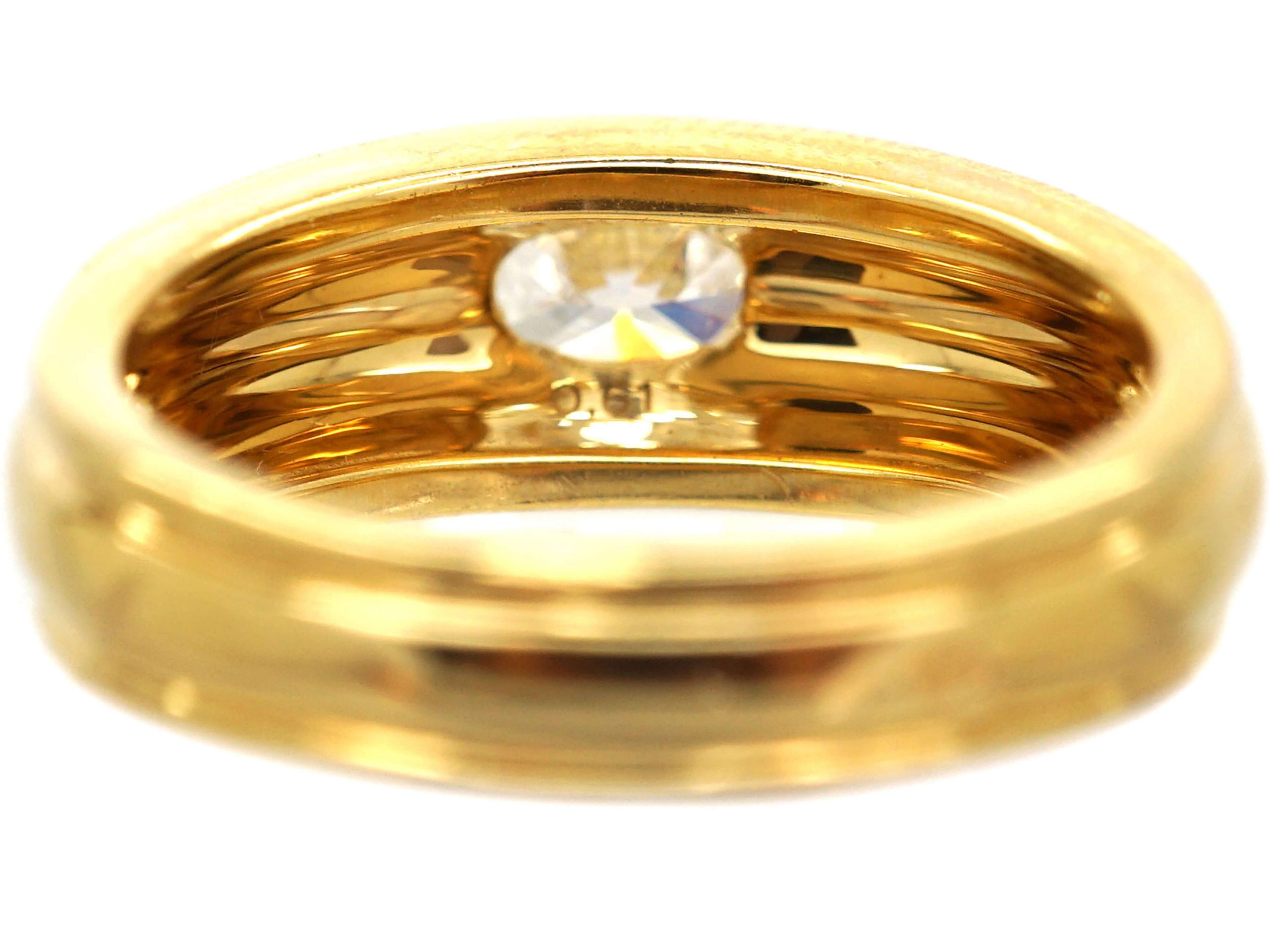 18ct Gold Ring set with a Diamond by Boucheron