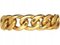 Edwardian 18ct Gold Curb Link Ring